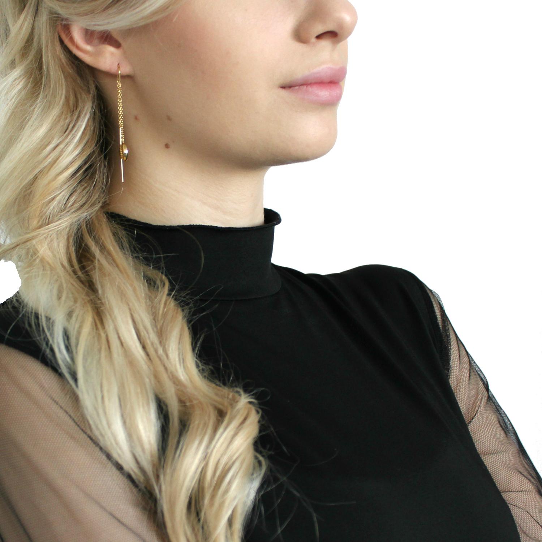 Ohrhänger für Damen, Sterling Silber 925, Muschel