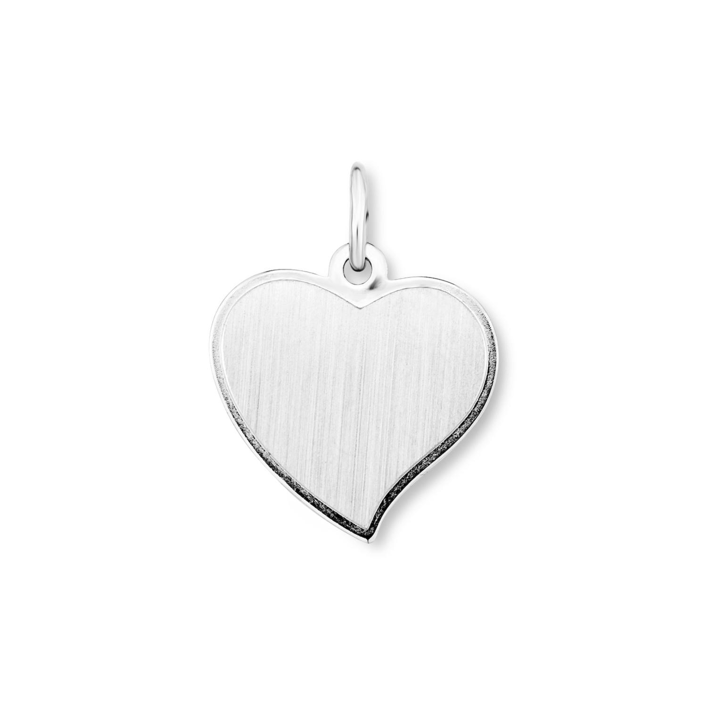 Anhänger Silber 925, rhodiniert Herz