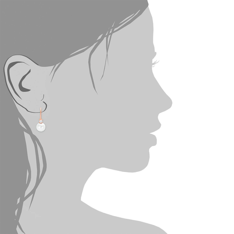 Ohrhänger für Damen, Sterling Silber 925, Zirkonia Wachsperle