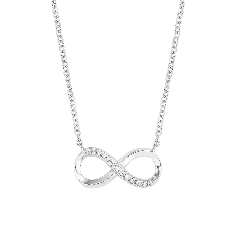Kette mit Anhänger für Damen, Silber 925,43cm,Infinity,Anker