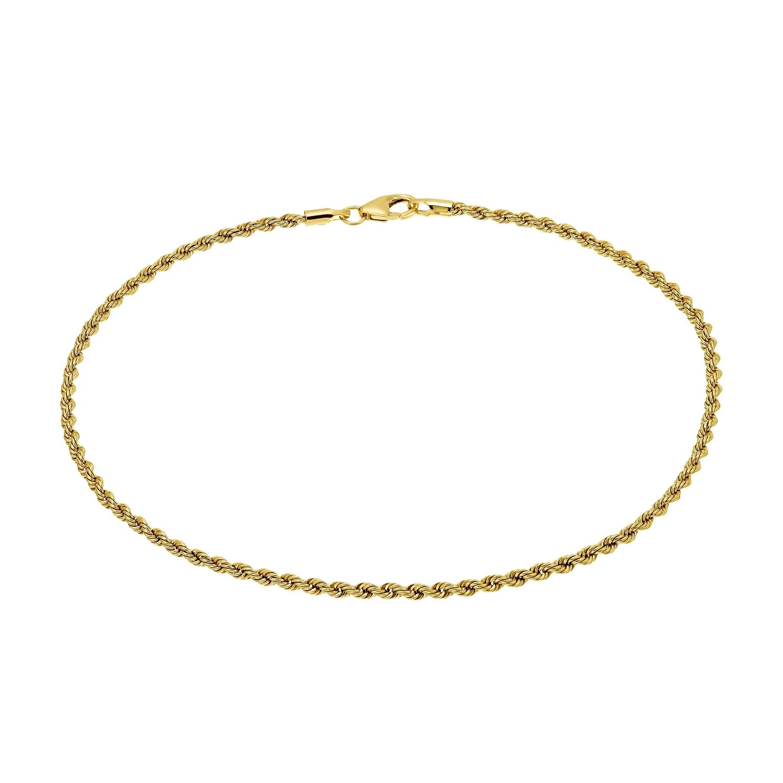 Fußkette für Damen, 375 Gold