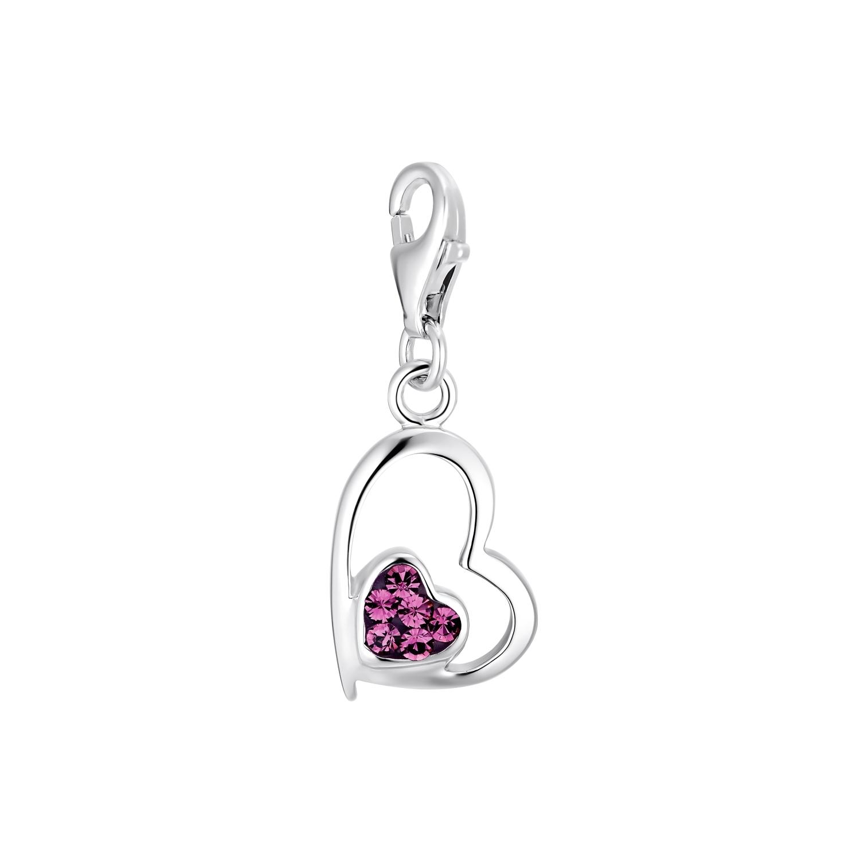 Charm für Damen, 925 Sterling  Silber  Preciosa | Herz