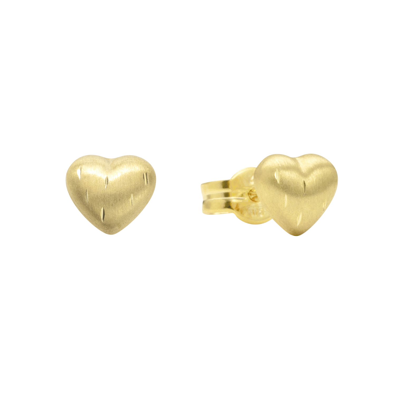 Ohrstecker für Mädchen, Gold 375, Herz