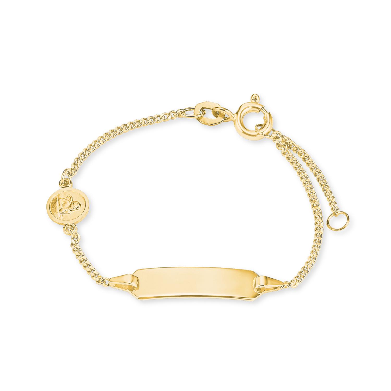 Identarmband für Mädchen, Gold 375