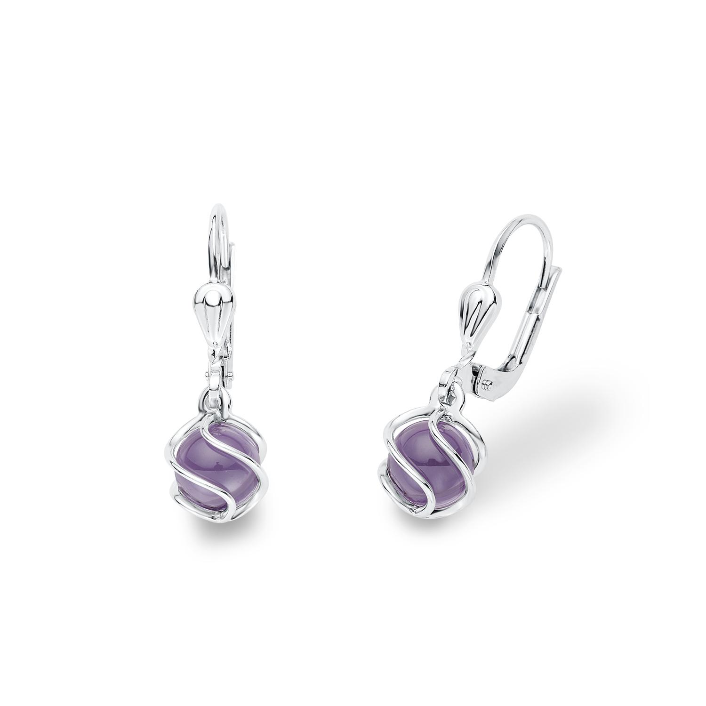 Ohrhänger für Damen, Sterling Silber 925, Zirkonia