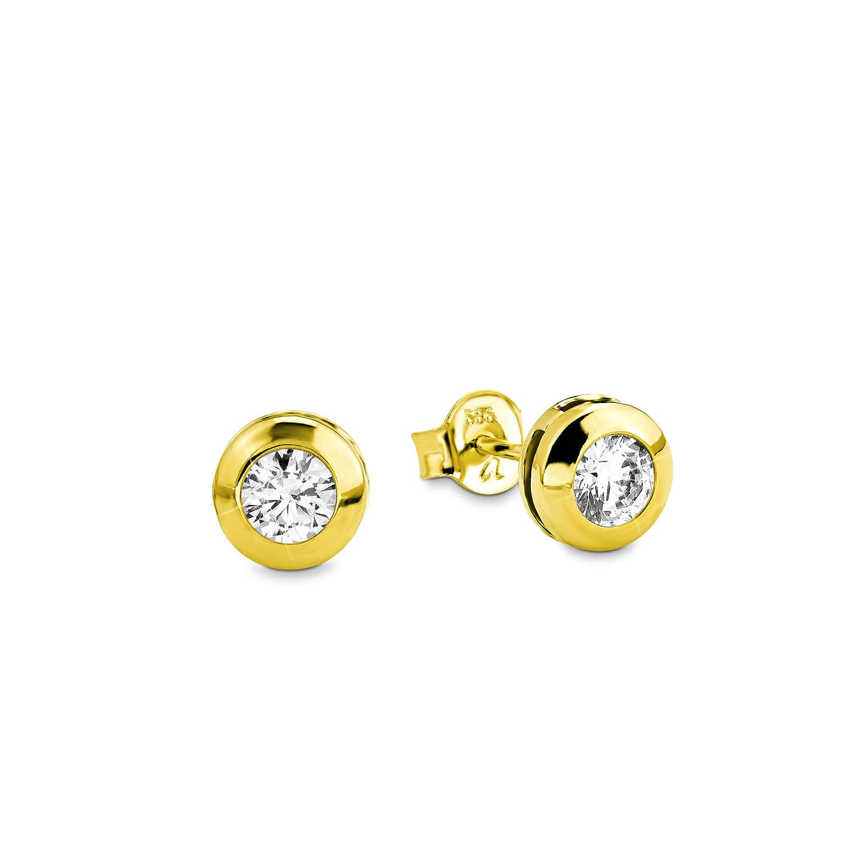 Ohrstecker für Damen, Gold 585, Zirkonia