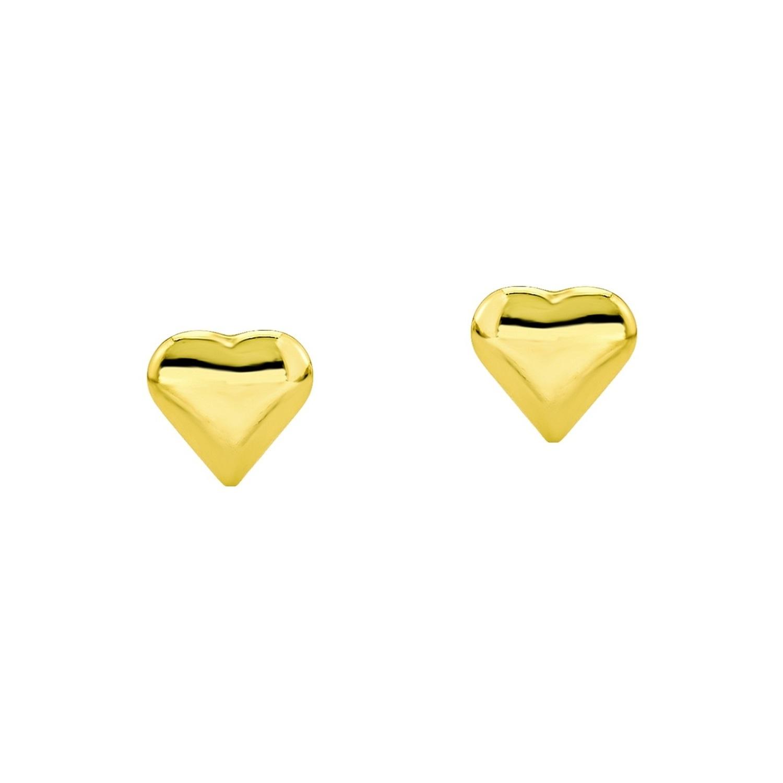 Ohrstecker für Damen, Gold 585, Herz