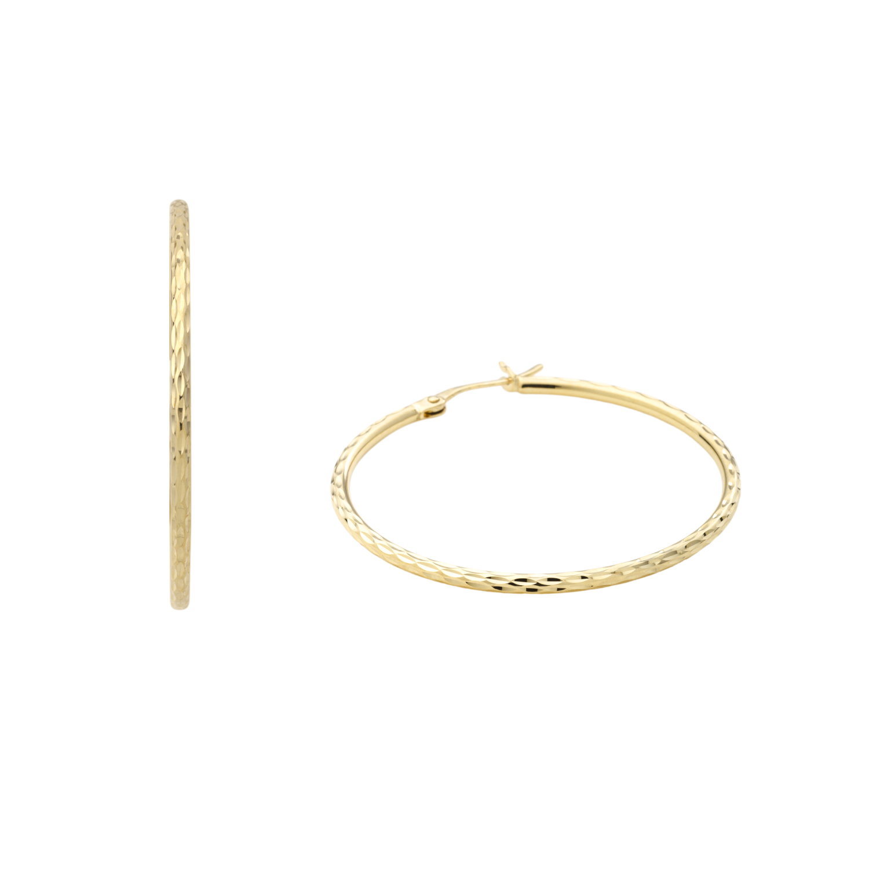 Creolen für Damen, Gold 375