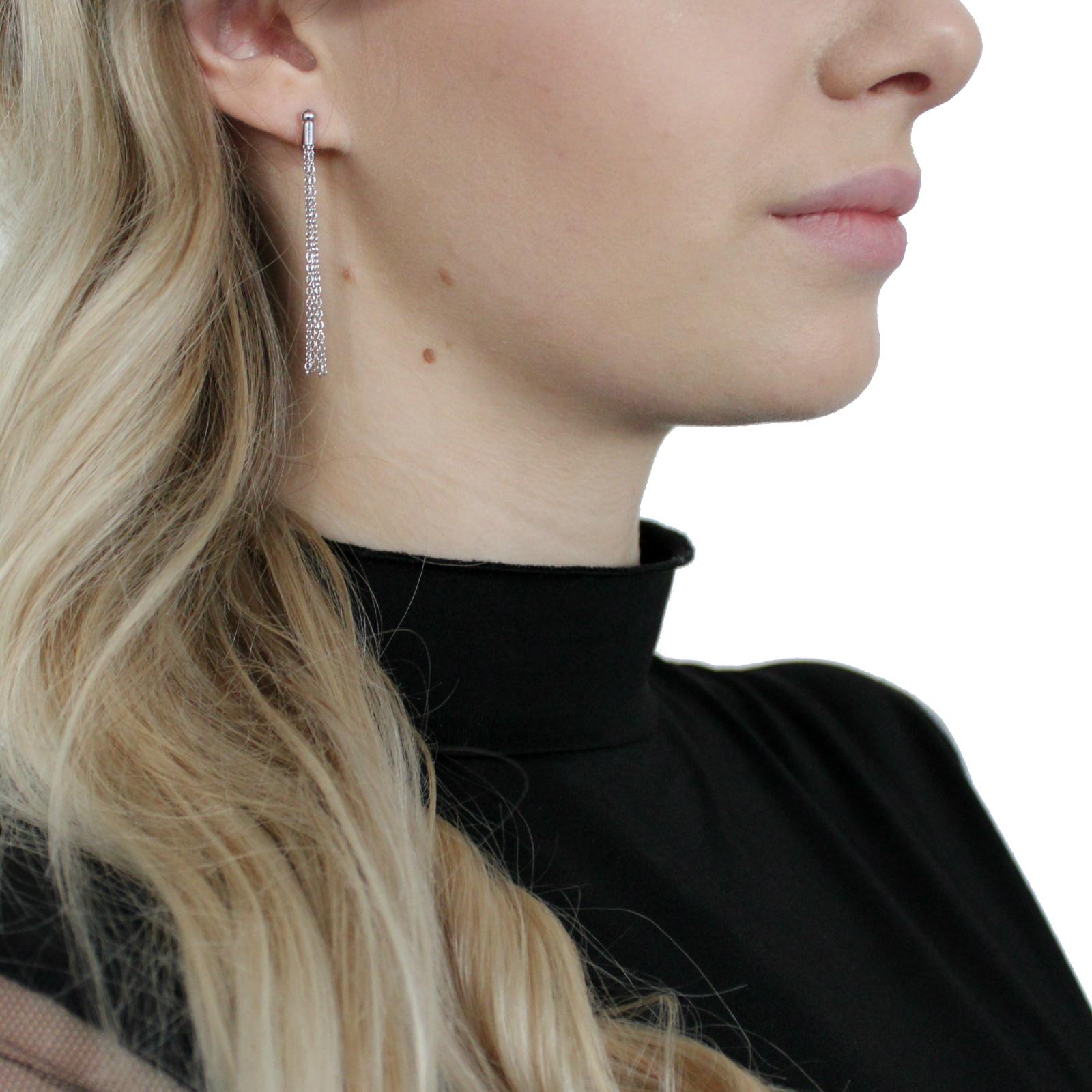 Ohrhänger Silber 925, rhodiniert