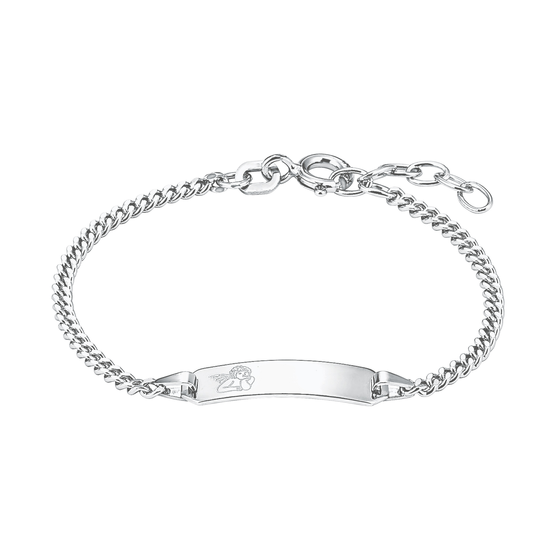 Identarmband für Kinder Unisex, Sterling Silber 925, Engel