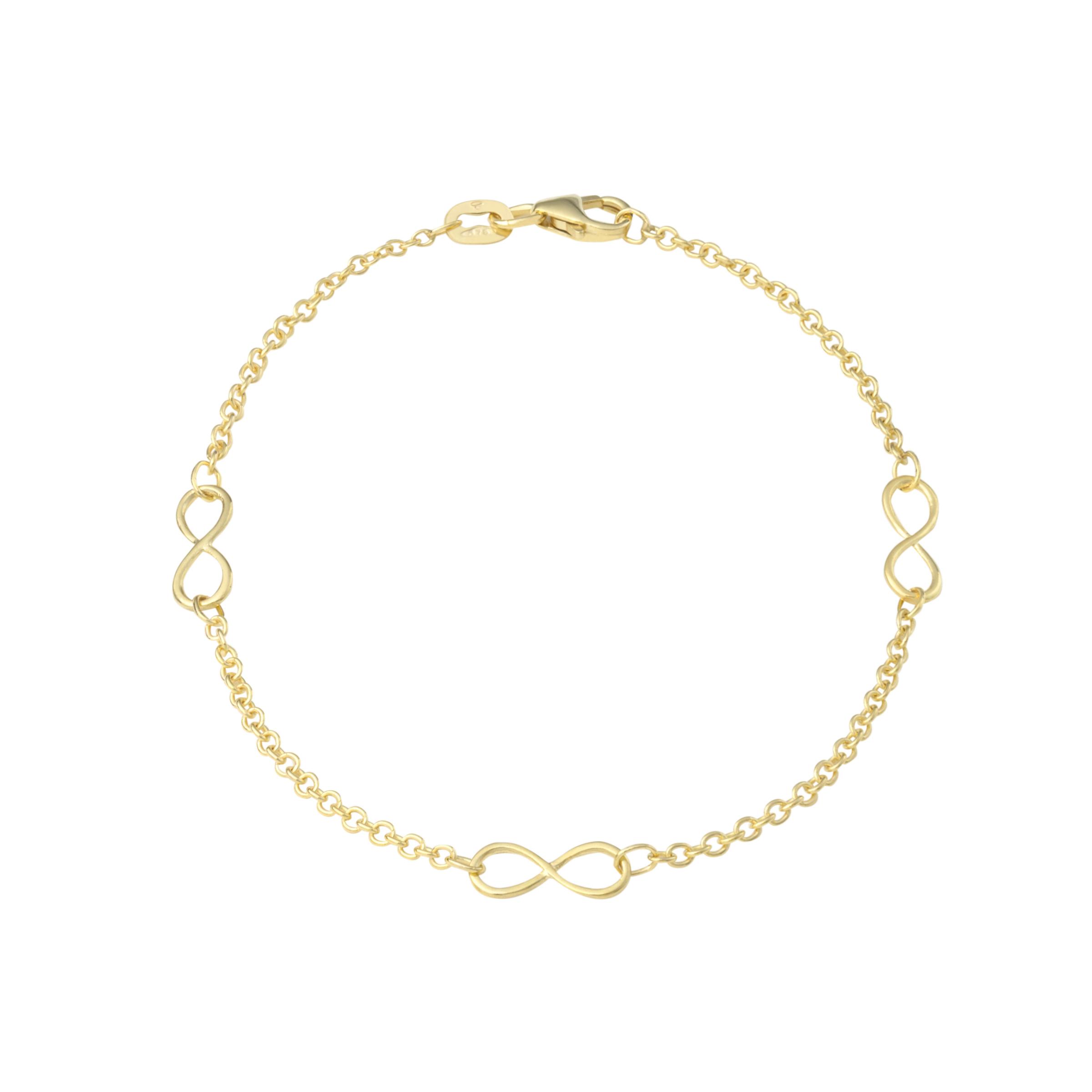 Armband für Damen, Gold 375, Infinity