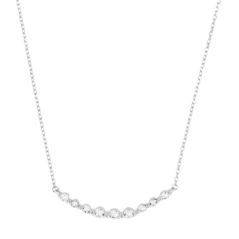 Kette mit Anhänger für Damen, Silber 925, Zirkonia