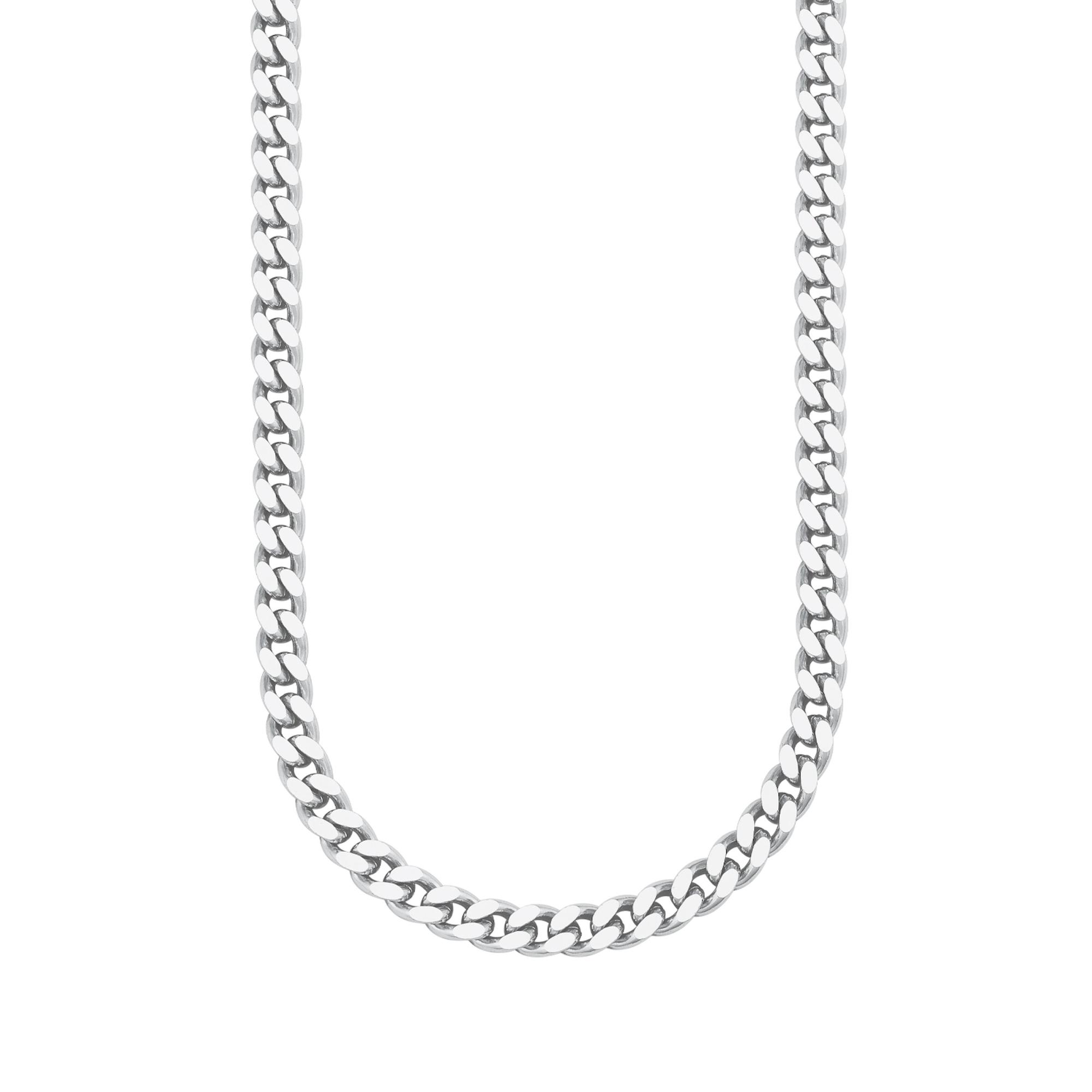 Halskette für Herren, Silber 925, Panzer 55 cm
