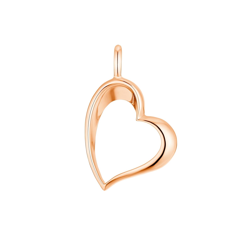 Motivanhänger für Damen, 925 Sterling Silber Roségold | Herz
