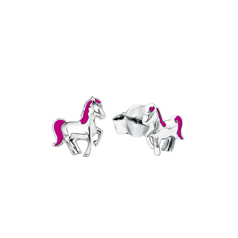 Ohrstecker für Mädchen, Sterling Silber 925, Pferd