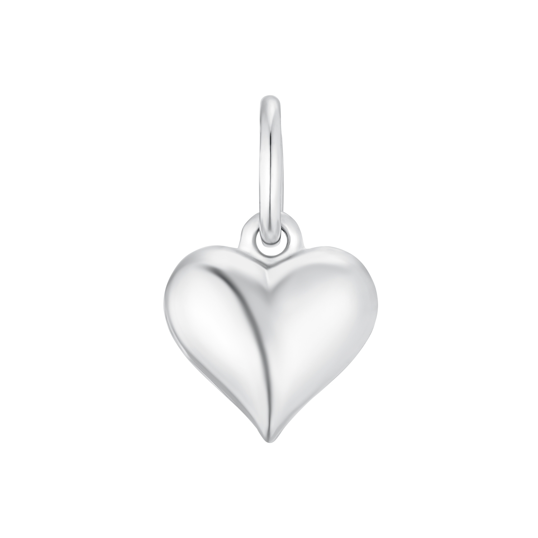 Motivanhänger für Mädchen, 750 Weißgold   Herz