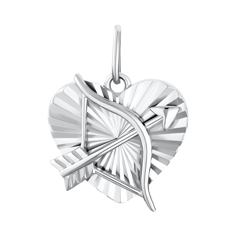 HEART & ARROW Anhänger Silber 925, rhodiniert Pfeil