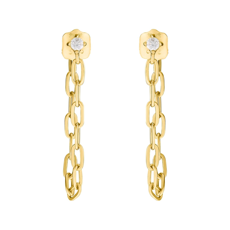 Ohrhänger für Damen, Sterling Silber 925 vergoldet   Link