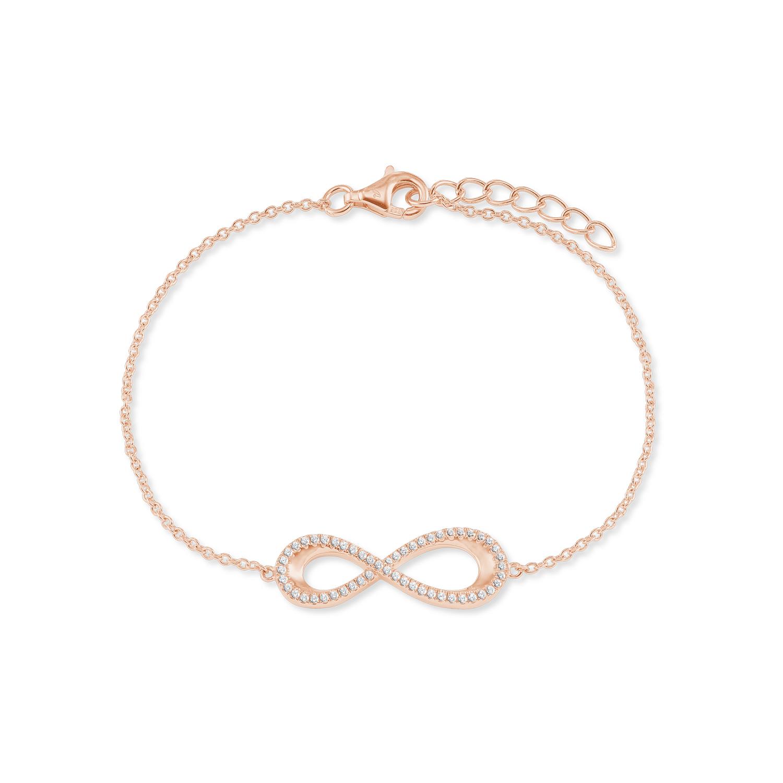 Armband für Damen, Sterling Silber 925, Zirkonia Infinity