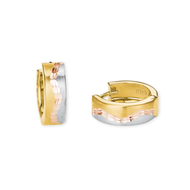 Creolen für Damen, Gold 585