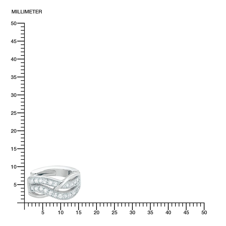 Creole für Damen 15 mm 925 Silber rhodiniert Zirkonia weiß