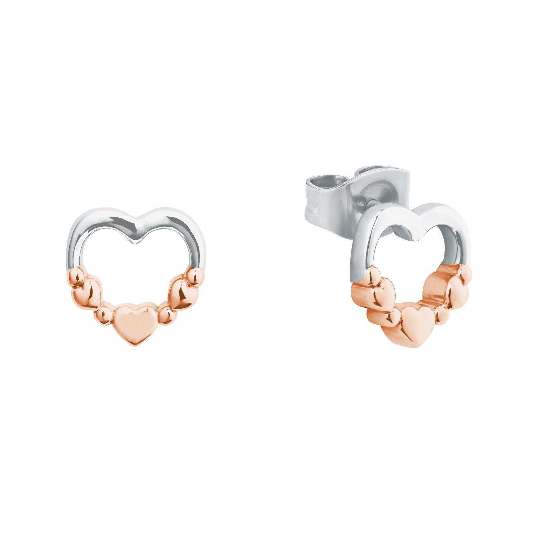 Ohrstecker für Mädchen, Sterling Silber 925, Herz
