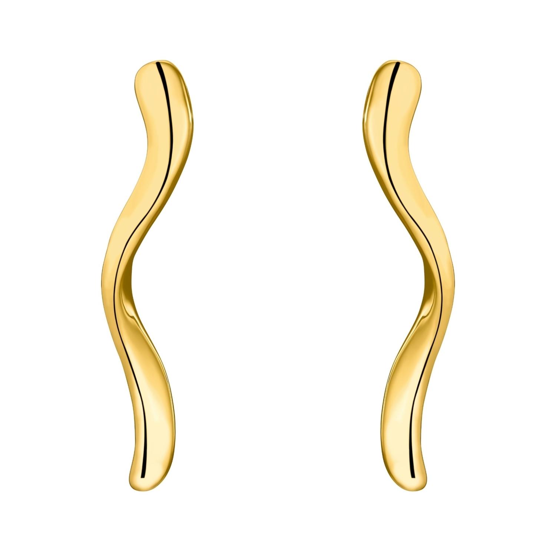Ohrstecker für Damen, Sterling Silber 925 vergoldet