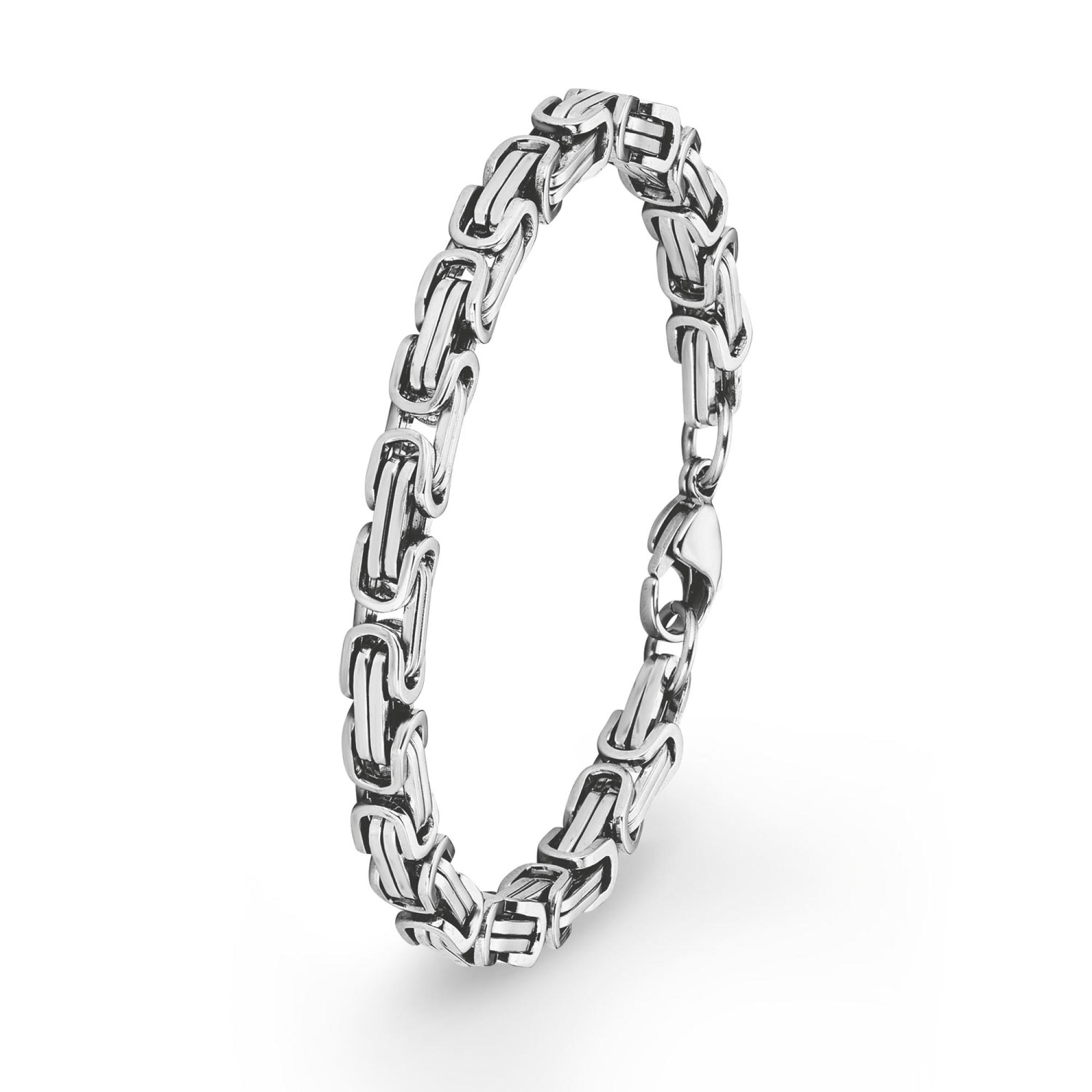 Armband für Herren, Edelstahl, 21 cm Königsgliederung
