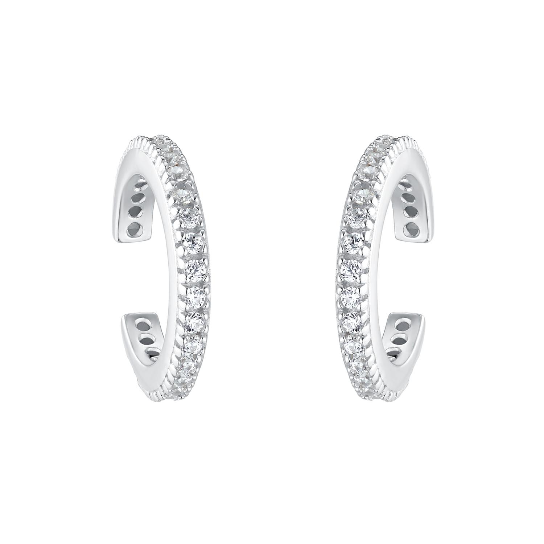 Earcuffs für Damen, Sterling Silber 925, Zirkonia