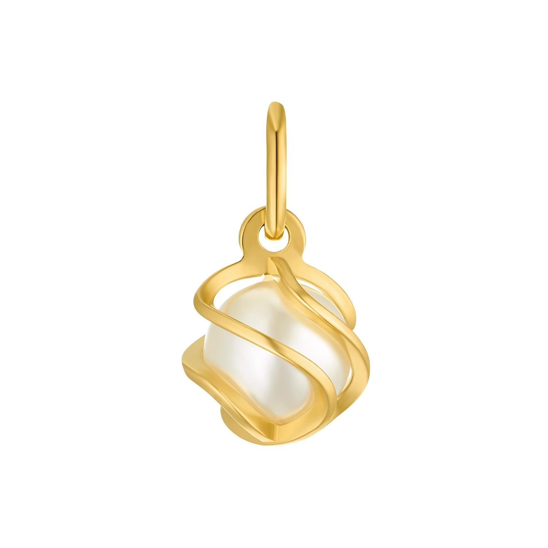 Motivanhänger für Damen, 585 Gold Perle