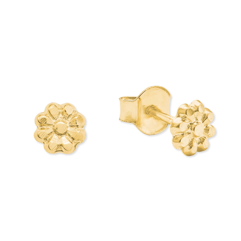 Ohrstecker für Mädchen, Gold 375, Blume