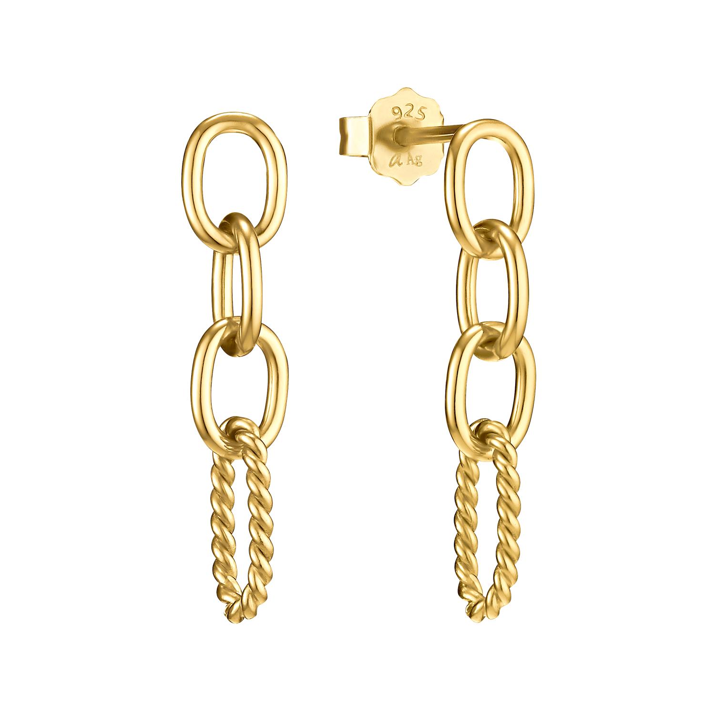 Ohrhänger Silber 925, gelbvergoldet kein