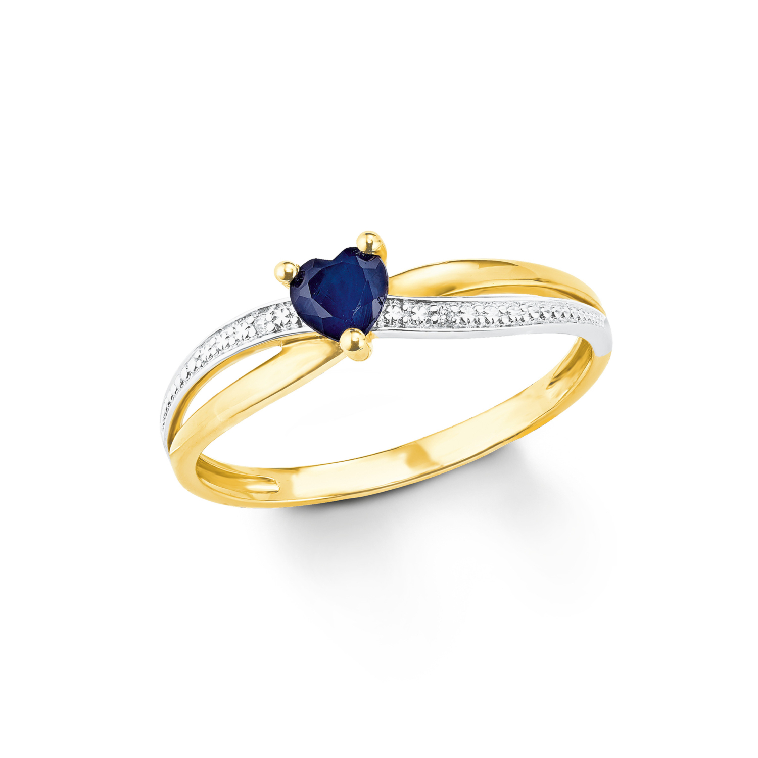 Ring Gold 375/9 ct Zirkonia synth. Herz