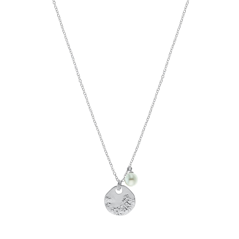 Kette mit Anhänger für Damen, Sterling Silber 925 mit Perle