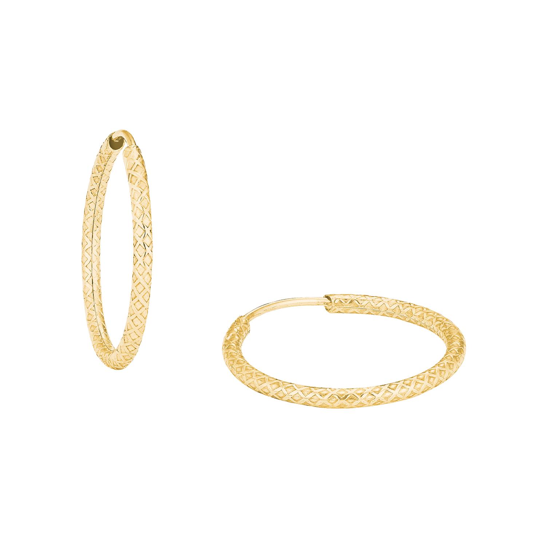 Creole für Damen, Gold 375, mittelgroß