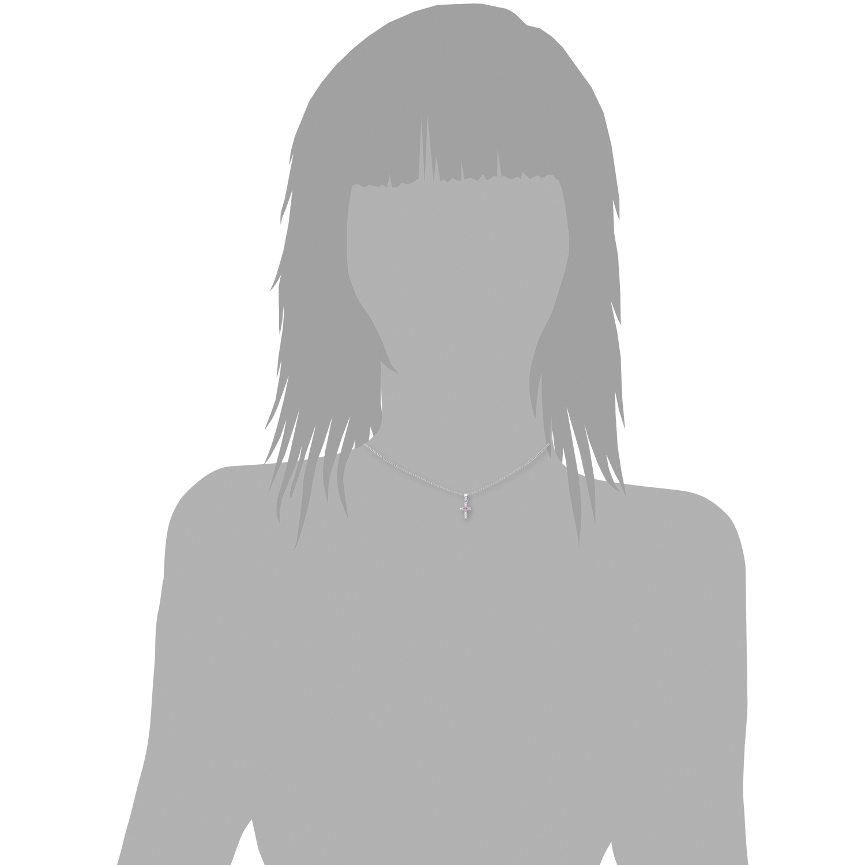 Kette mit Anhänger für Mädchen, Sterling Silber 925, Zirkonia Kreuz