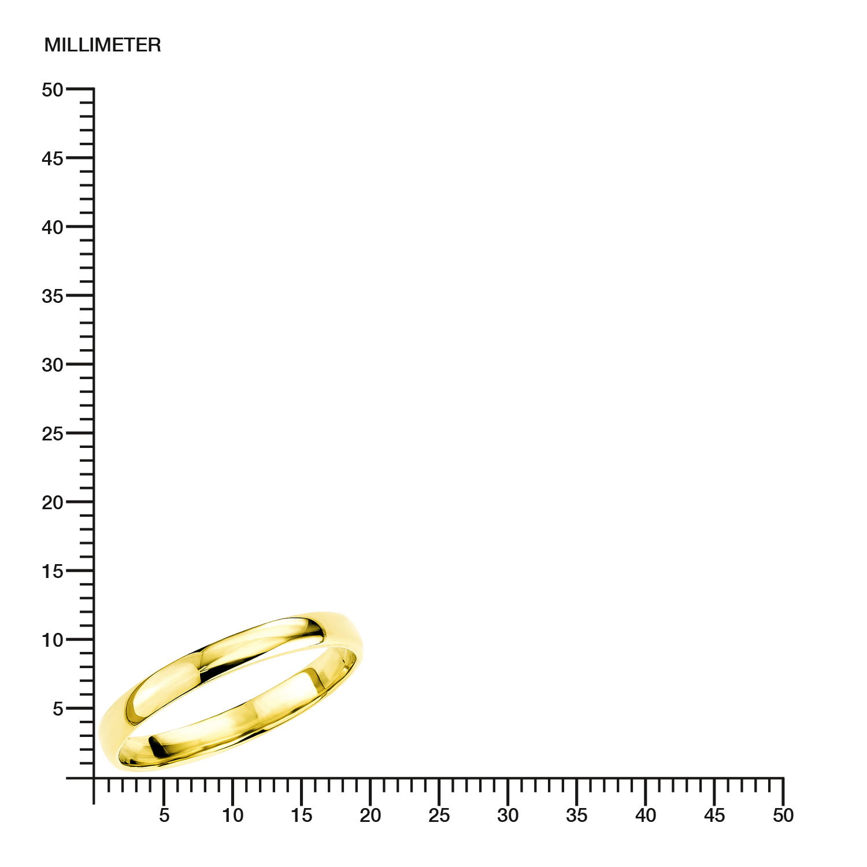 Ring für Damen 333 Gelbgold glänzend
