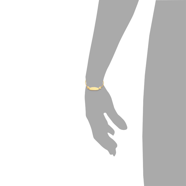 Identarmband für Mädchen, Sterling Silber 925, Zirkonia Stern