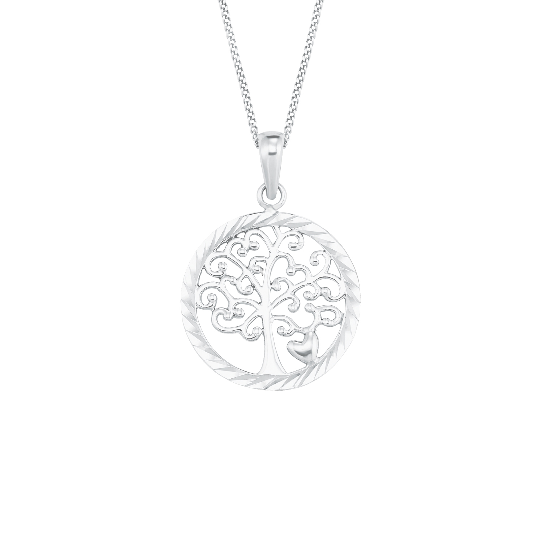 Kette mit Anhänger für Damen, Sterling Silber 925, Lebensbaum