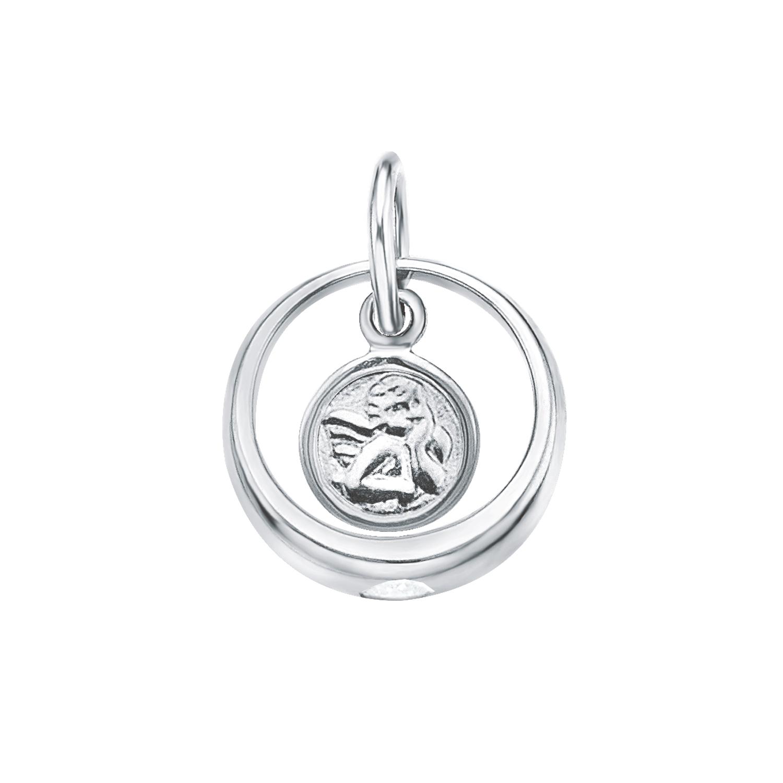 Anhänger für Damen, Sterling Silber 925, Zirkonia Engel