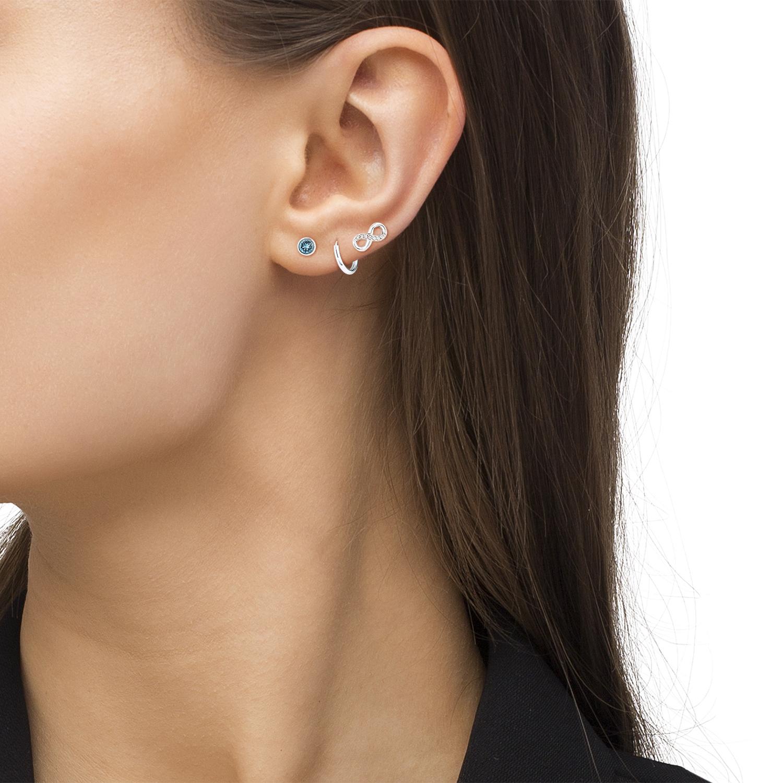 Set für Damen, Sterling Silber 925, Swarovski Kristall® Infinity