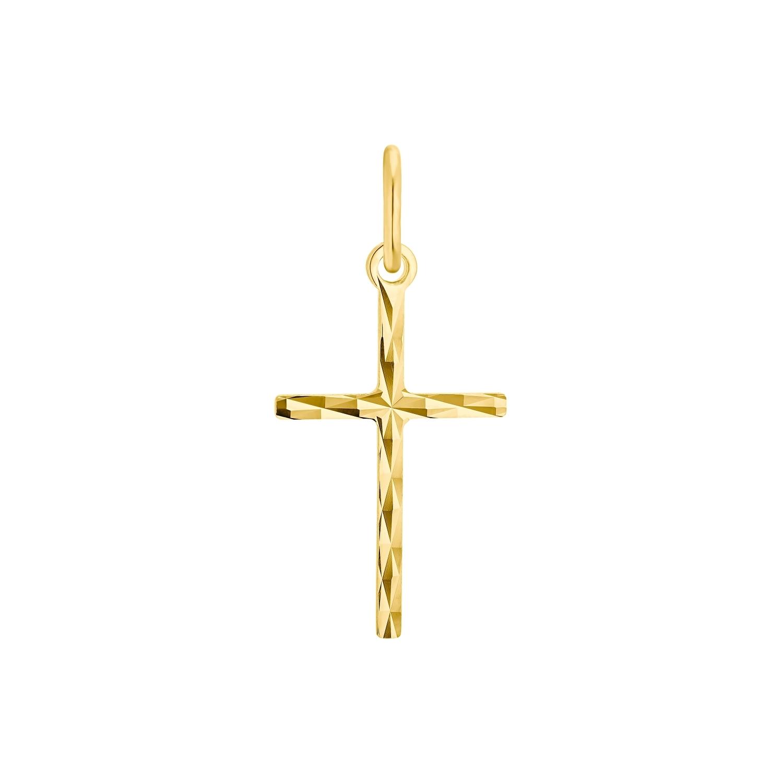 Motivanhänger für Damen, 375 Gold   Kreuz