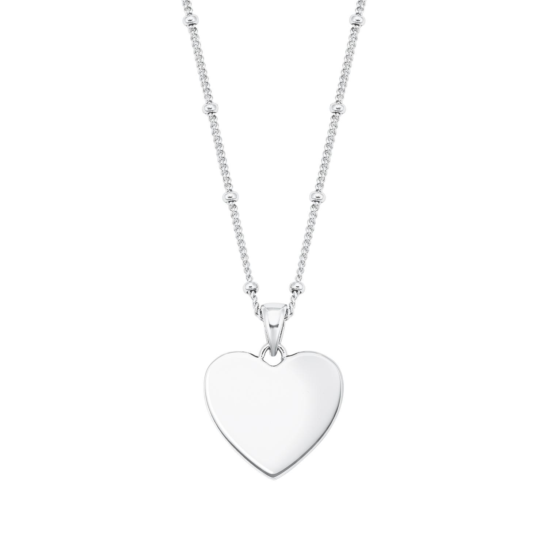 Kette mit Anhänger Silber 925, rhodiniert Zirkonia synth. Herz