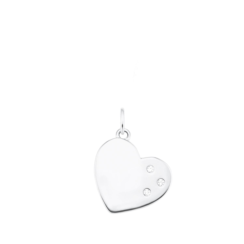 Anhänger für Damen, Sterling Silber 925, Zirkonia Herz