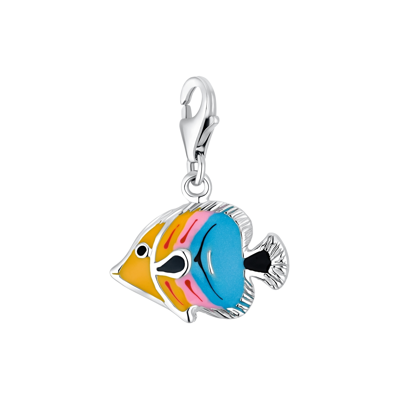 Charm für Damen, 925 Sterling Silber | Fisch