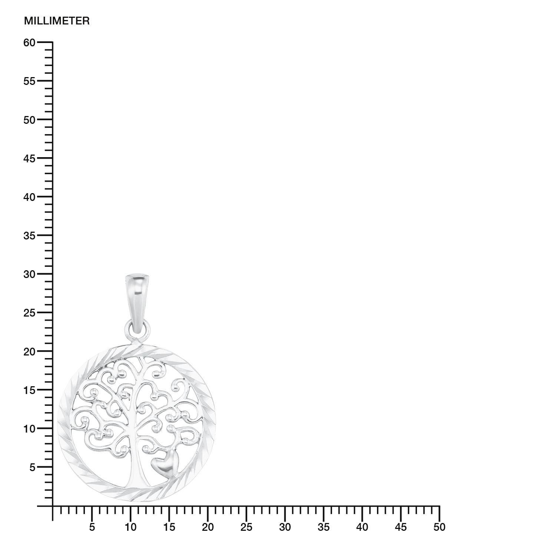 Kette mit Anhänger Silber 925, rhodiniert Lebensbaum