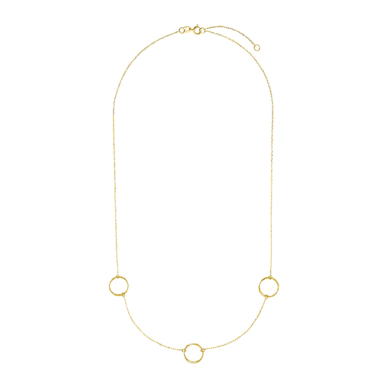 Kette mit Anhänger für Damen, Gold 375, Ring