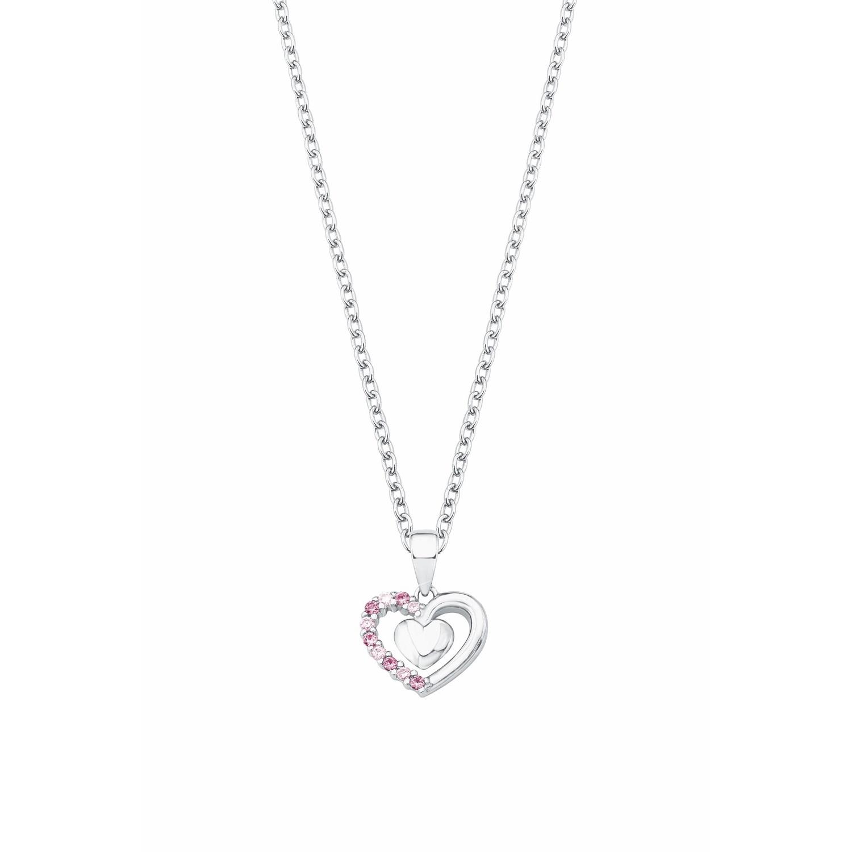 Kette mit Anhänger für Mädchen, Sterling Silber 925, Zirkonia Herz