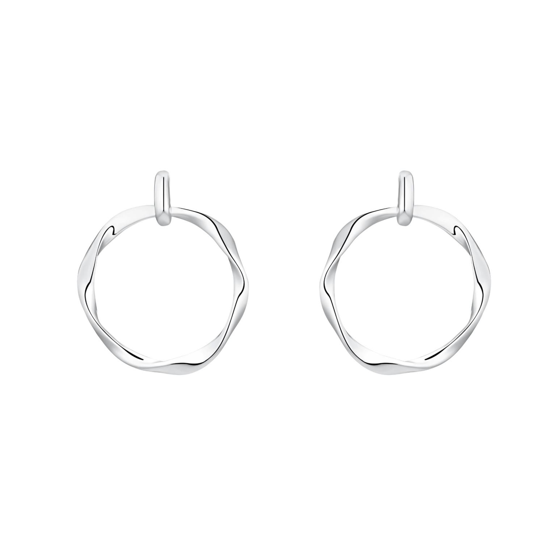 Ohrhänger für Damen, Sterling Silber 925 rhodiniert, Zirkonia