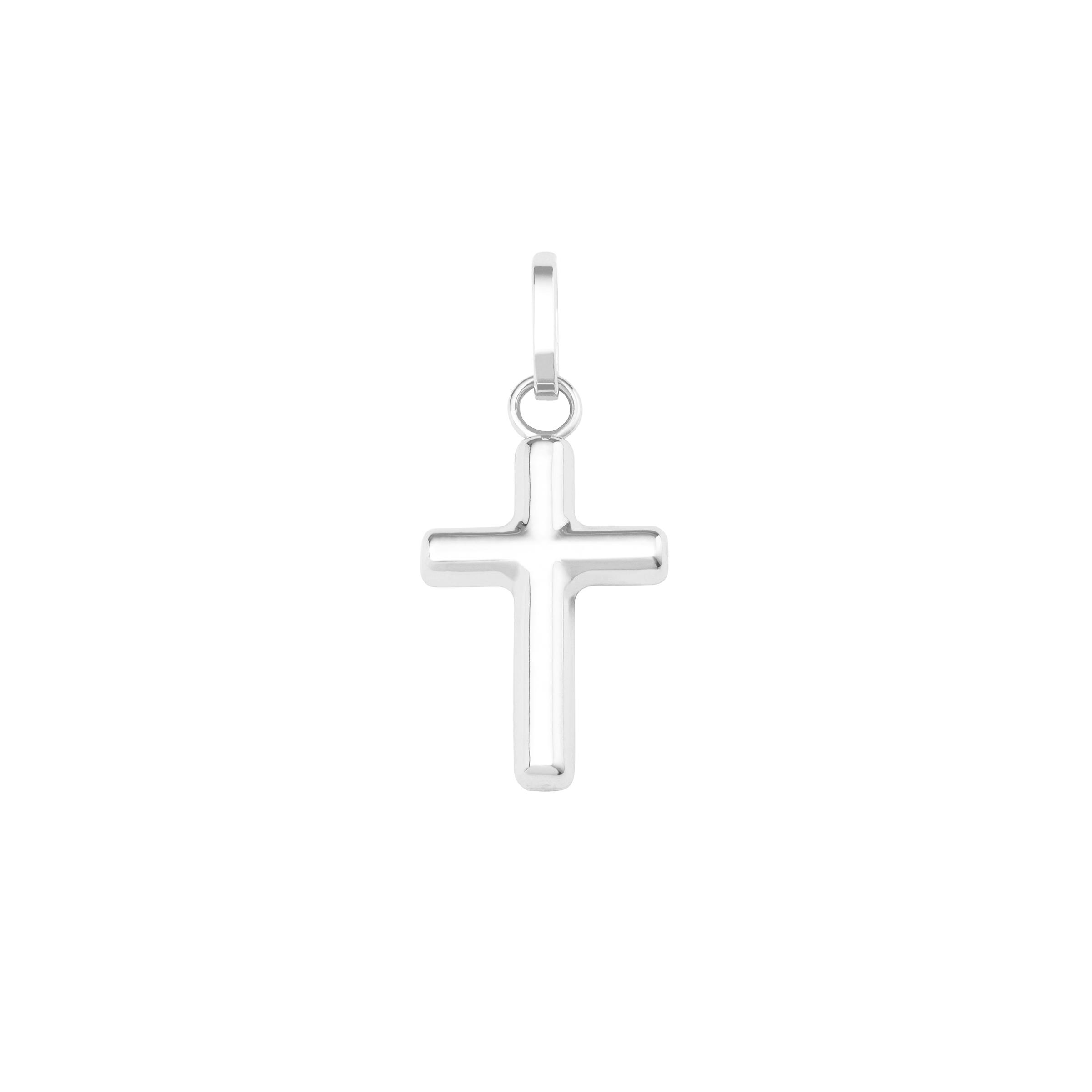 Anhänger Unisex, Weißgold 375, Kreuz